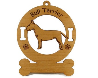 2036 Bull Terrier Personalized Wood Ornament