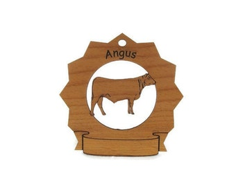 Angus Cow 2  Personalized Ornament