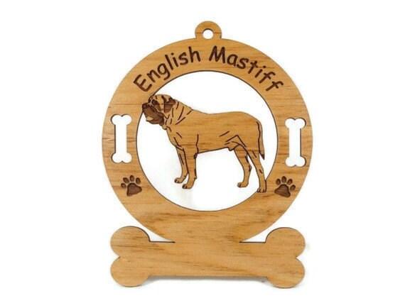 3156 English Mastiff Standing Personalized Dog Ornament
