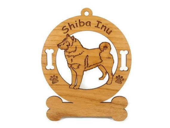 3953 Shiba Inu Standing Personalized Dog Ornament
