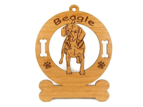 1519 Beagle Standing Personalized Dog Ornament