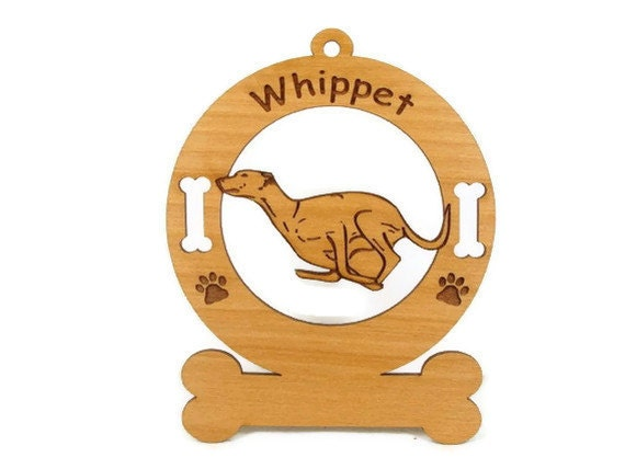 4229 Whippet Running Personalized Dog Ornament