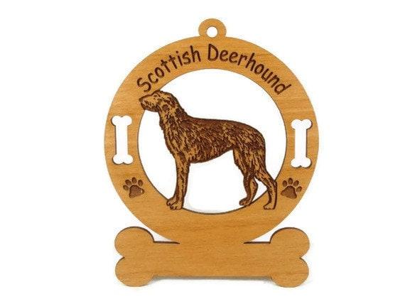 3902 Scottish Deerhound Standing Personalized Ornament