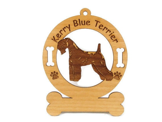 3445 Kerry Blue Terrier Personalized Wood Ornament