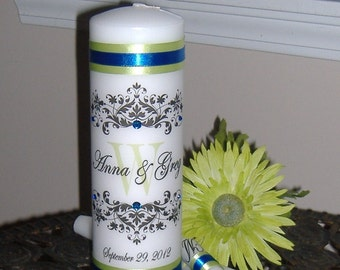 Unity Candle with personalized monogram