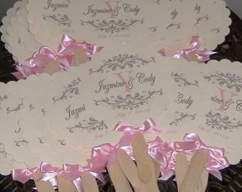 Wedding Fans, Monogram Wedding Fan, Wedding Favor