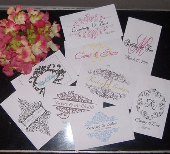 Flower Seed Packets for Wedding - 25 EMPTY packets with your monogram