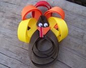 double featherd turkey hair clip