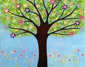 Tree Art Print  - Large Art Print - Sunlight Tree Art - Tree Painting - Tree Wall Art - Home Decor - Large Tree Painting - Large Painting