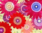 Flower Art - 20x20 Inch Flower Art Print - Abstract Flower Painting - Floral Art - Wall Art - Acrylic Flower Painting - Summer Crush