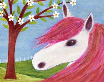 Horse Art Print Spring Pony