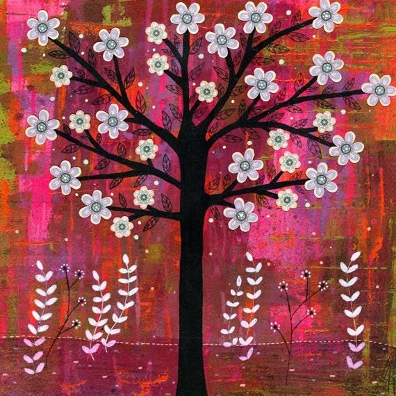 Abstract Tree Painting Reproduction Art Print