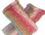 Technicolor Silk Fingerless Gloves