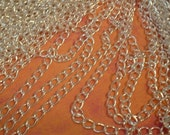 Chain, Bright Silver, 5.5X4mm. 6 feet