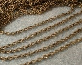 Chain, Antique Bronze, 3X2mm,  6 feet