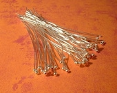 Ball Head Pins, Choice of Finish,  Brass, 56mm 2.25 inches, 24g. 50 Pcs.