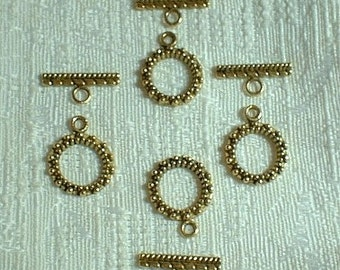 Toggle Clasp, Gold Plated (4)  SALE