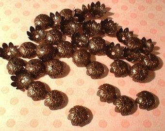 Bead Caps, Antique Copper, 9X4mm, 50 Pcs.....No. 34136-AC