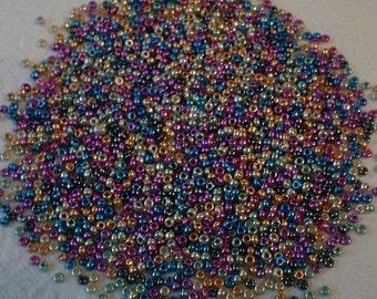 Czech Seedbeads, 10/0, Metallic Mix, 20 grams