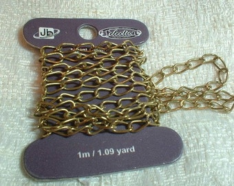 Curb Chain, 7X4mm, Antique Brass Plated, (no.1103-03H), 1 meter