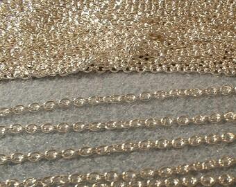 Chain, Silver, 3X2mm, 6 feet