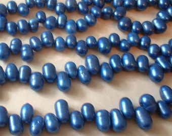 Freshwater Pearl Drops - Blue no. 01951bl