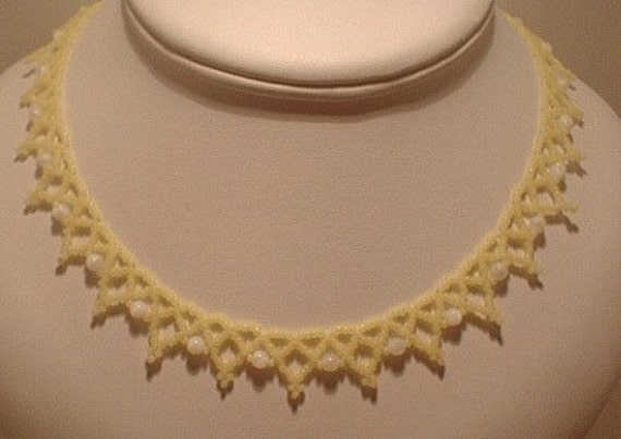 Yellow Simple Net Necklace Kit