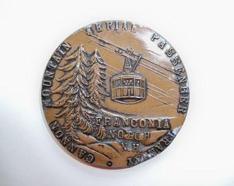Sale - Vintage Ski Souvenir/CANNON Mountain Souvenir/FRANCONIA NH Souvenir/Ski Medal