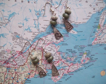 PEACE EARRINGS/JADE Earrings/Friendship Earrings/Peace Jade Stones