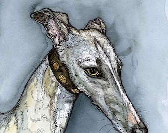 I should have told you long ago - Whippet Dog Art Print