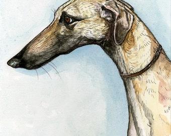 SLOUGHI DOG PRINT