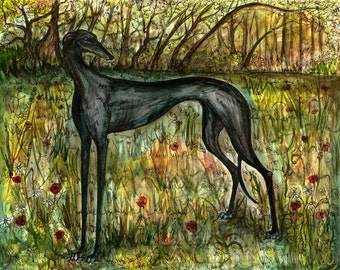 A Little Sanctity - Greyhound Art Dog Print
