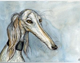 A Little Mellifluous - Saluki Art Dog Hound Print