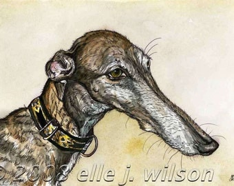 If only you knew.....  - Greyhound Art Dog Print