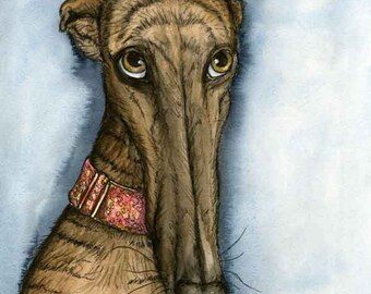 A Little Hope - Greyhound Art Dog Print