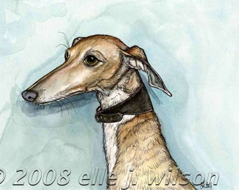 In a manner of words -Italian Greyhound Dog Print