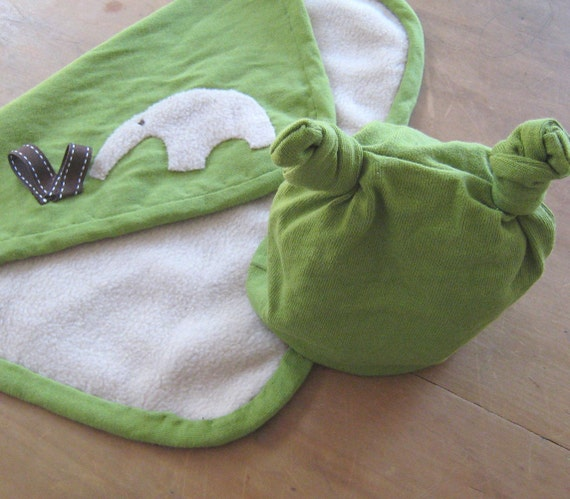 Anteater baby comforter and hat