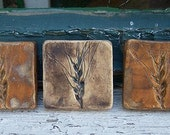 SALE Tiny Wheat Tiles-Set of 3-In Stock Ready to Ship