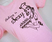 Baking is SEXY Ladies Pink T-Shirt - Sizes S, M, L, XL