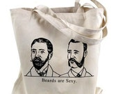 Beards Are Sexy print on a Natural Canvas Tote Bag