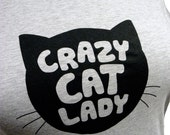 Crazy Cat Lady Grey PLUS SIZE T-Shirt - Sizes 1X or 2X