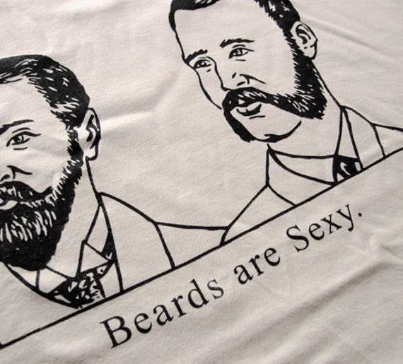 Beards Are Sexy Funny Mens T-Shirt - S,M,L,XL