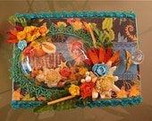 Tropical Travelogue Burlap Album & Altered Cigar Box