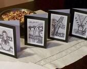 Babushka series - set of 4 blank cards