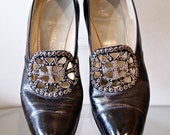 Amazing 1920s 20s Flapper Shoes Heels Size 7 1/2 M