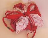 Sun Bonnet Sue Red  Ribbon Fabric Pouch / Gift Bag