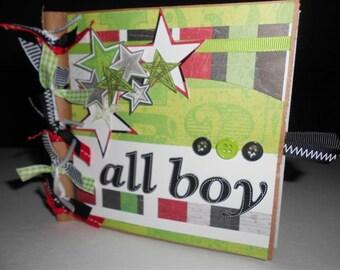 ALL BOY Premade 6x6 Scrapbook Album boy