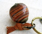 Keychain: Big Glass Bead, Gobstopper