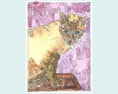 Aceo Cat  Siamese Who Ruled Even the Racoons from Theodora