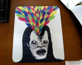 Neon Brain Monster - A Mouse Pad